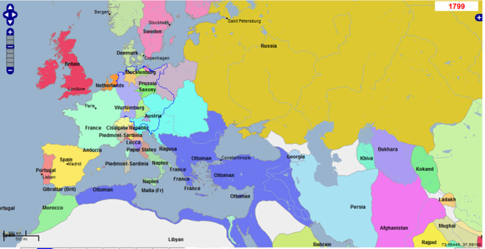 Maps Of The Napoleonic Wars The Changing Map Of Europe