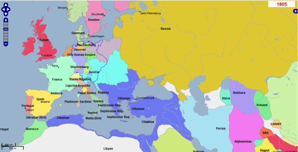 Map Of France With States.Maps Of The Napoleonic Wars The Changing Map Of Europe
