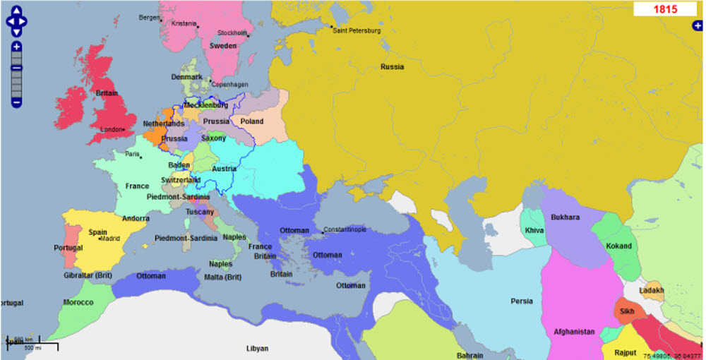 Maps of the Napoleonic Wars - The Changing Map of Europe
